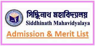 Siddhinath Mahavidyalaya Merit List