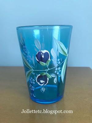 Closeup of enameled optic glass https://jollettetc.blogspot.com