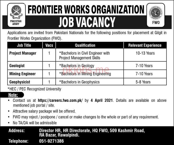 Latest Frontier Works Organization Management Posts 2021