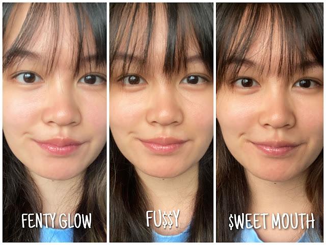 fenty beauty shades comparison 3