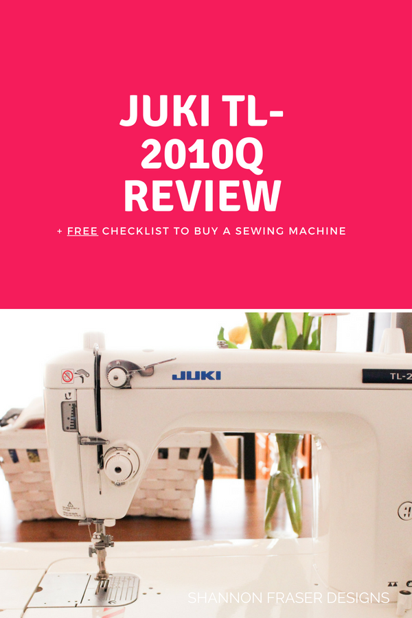 Juki TL-2010Q Review one of the Best of 2018 for Shannon Fraser Designs