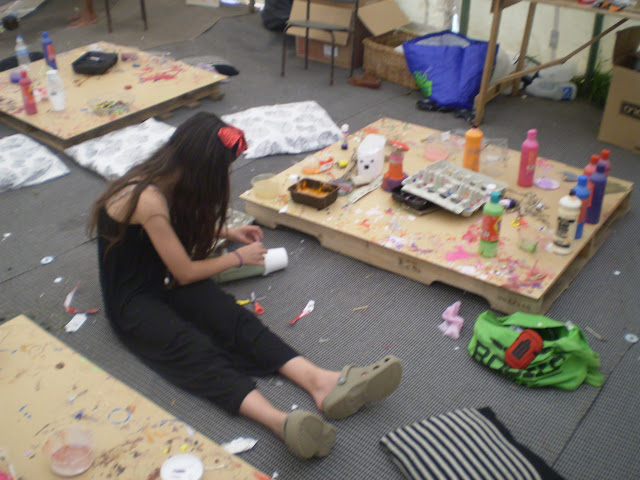 crafting at wilderness festival