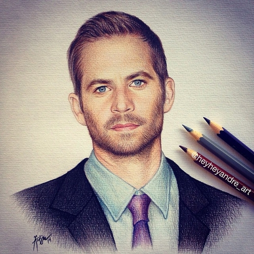 05-Paul-Walker-Fast-and-Furious-André-Manguba-Celebrities-Drawn-and-Colored-in-with-Pencils-www-designstack-co
