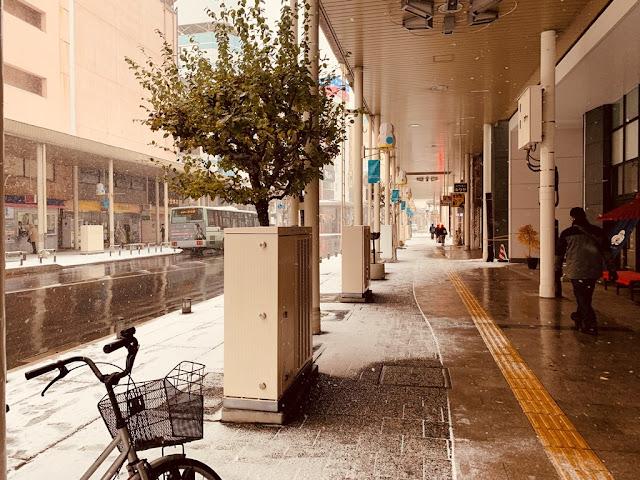 青森車站-下雪的街道