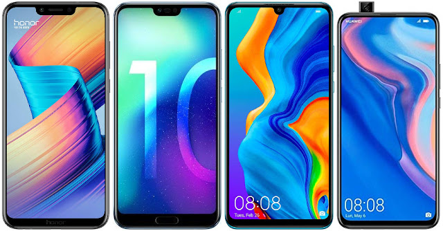 Honor Play vs Honor 10 vs Huawei P30 Lite vs Huawei P Smart Z