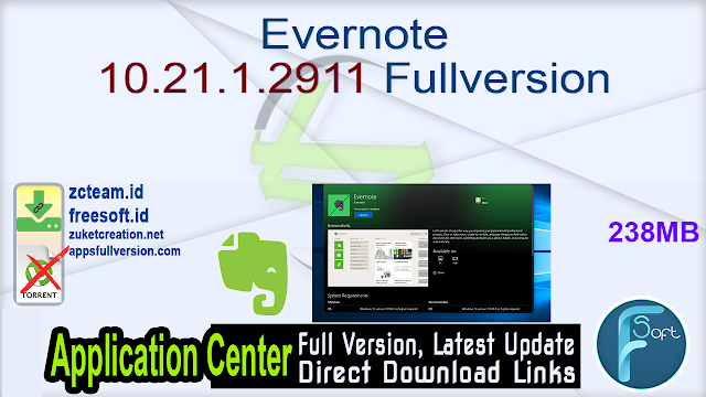 Evernote 10.21.1.2911 Fullversion