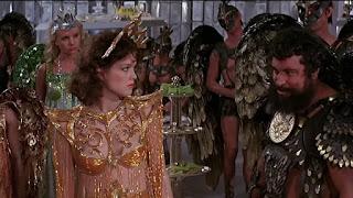 Melody Anderson con los hombres halcón