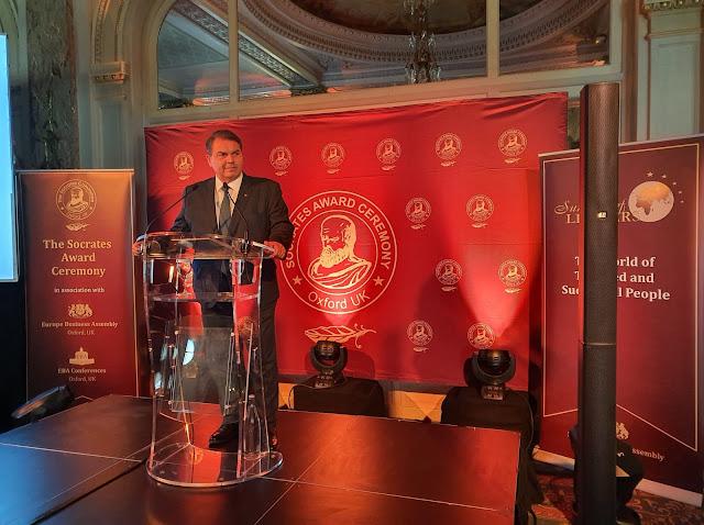 Ο Δήμαρχος Δημήτρης Καμπόσος βραβεύθηκε σε παγκόσμιο επίπεδο - Εξωστρέφεια για τον Δήμο Άργους Μυκηνών