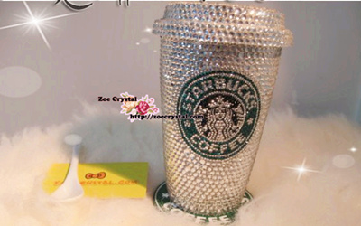 Stylish Crystallized Starbucks Mug Cup For Drink Or Decoration