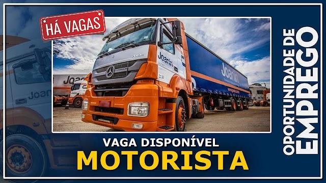 Joanini Transportes abre vagas para Motorista Carreteiro