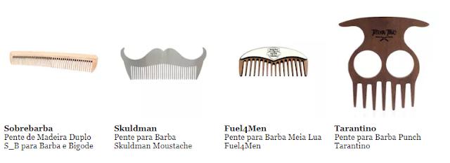 Pentes para barba e bigode