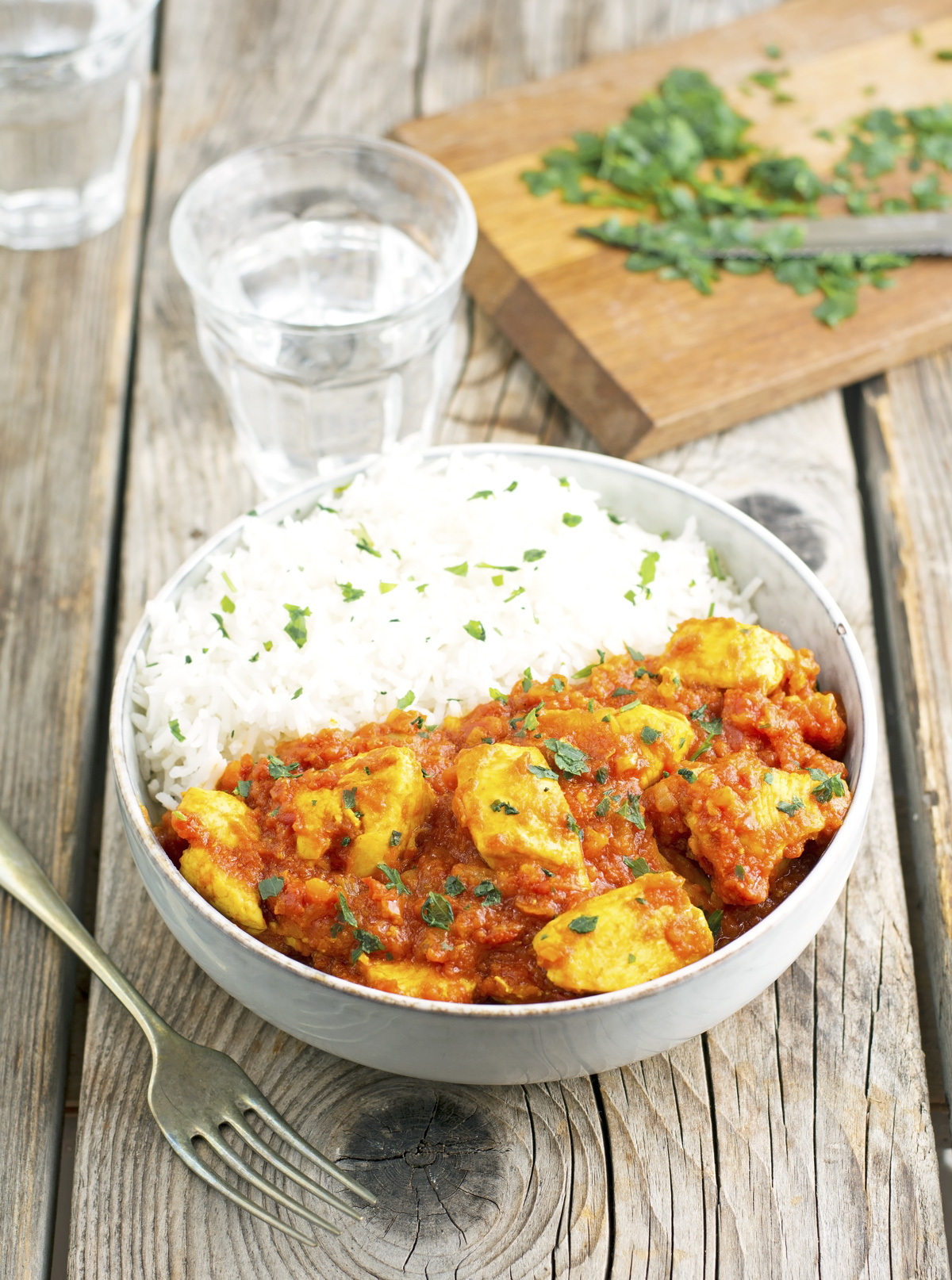 Easy Tomato Chicken Curry