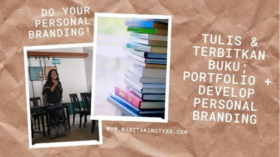 menerbitkan buku sebagai sarana branding dan portfolio