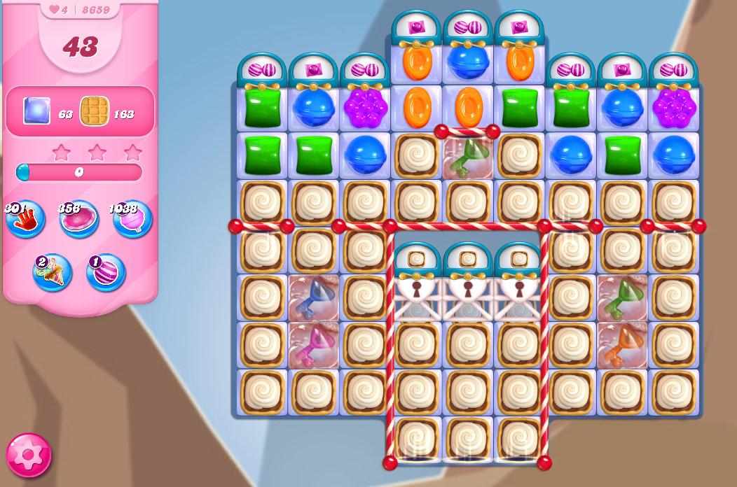 Candy Crush Saga level 8659
