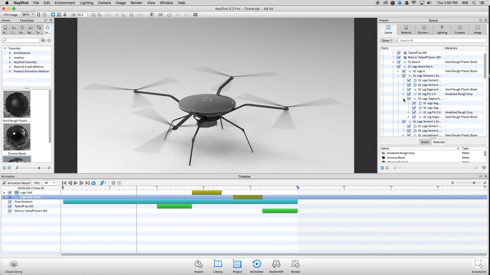 keyshot animation rotation axis