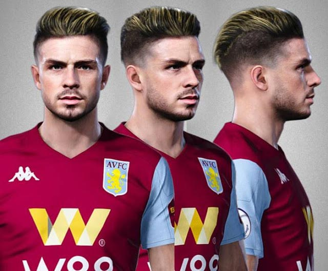 Jack Grealish Face (Aston Villa) eFootball PES 2020
