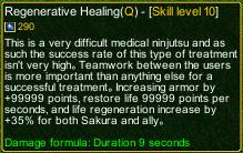 naruto castle defense 6.3 Regenerative Healing detail