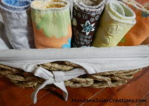 Easy Handmade Gift DIY Cloth Napkins and UnPaper Towels