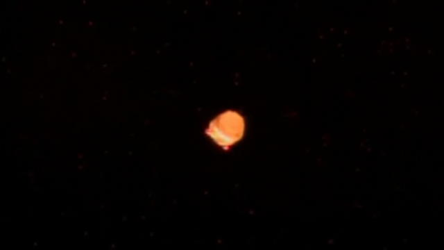 Close up of the UFO from Chris Cassidy astronaut seen out the ISS window.