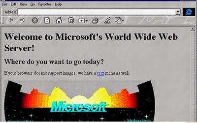 Website Microsoft Jaman Dulu