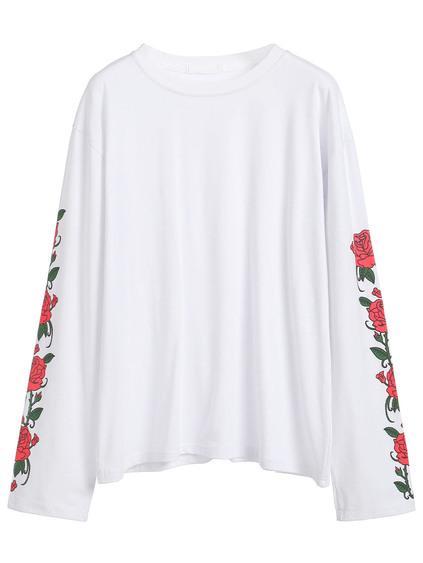 Rose sleeves top