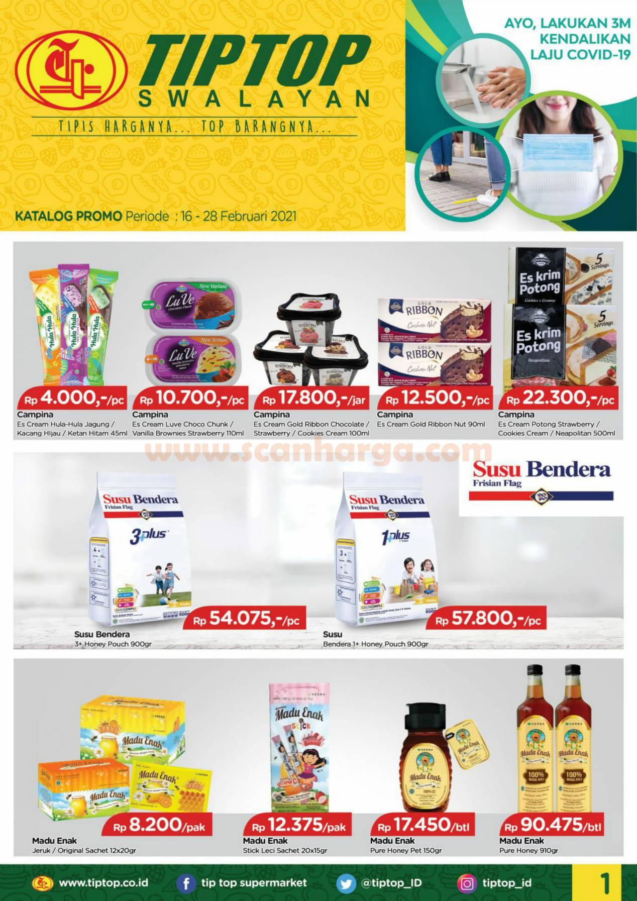Katalog Promo Tip Top Pasar Swalayan 16 - 28 Februari 2021 1