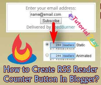 How to Create RSS Reader Count Button In Blogger