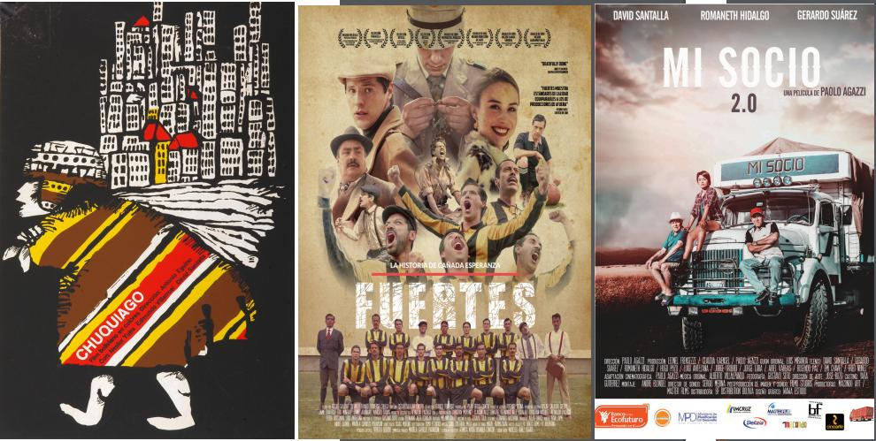Algunos afiches de la muestra en el catálogo digital / CINEMATECA