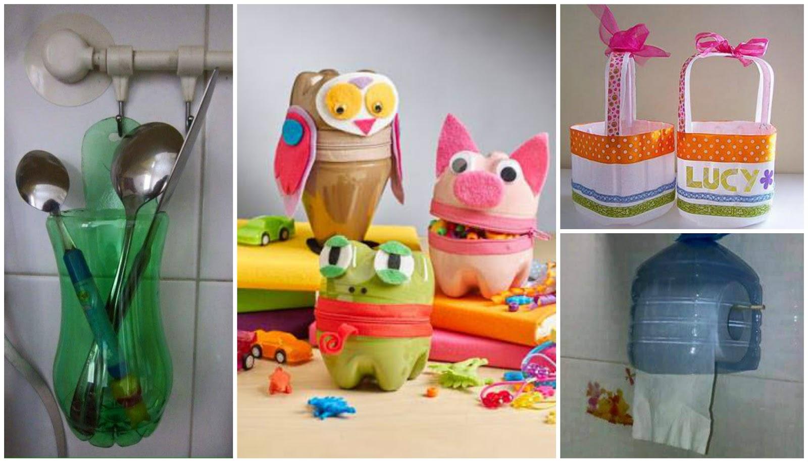 11 ideas creativas para no tirar las botellas de pl stico - Decoracion con reciclaje para el hogar ...
