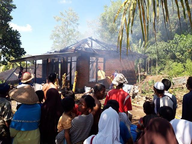 Rumah warga di Sukadana Hangus Terbakar