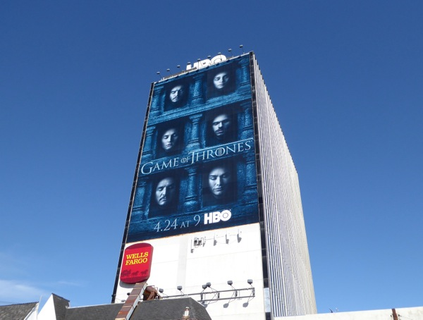 Giant Game of Thrones Hall of Faces season 6 billboard