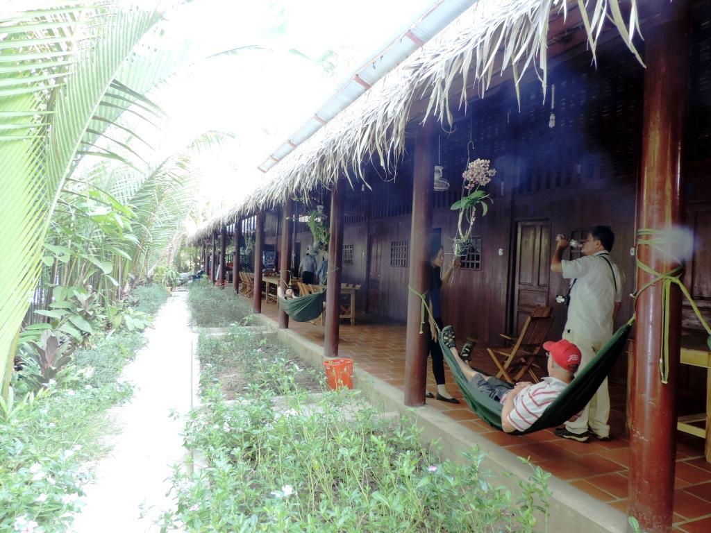 M h nh homestay c i c m b n d ng s ng thom g n li n v i for Jardin du mekong homestay