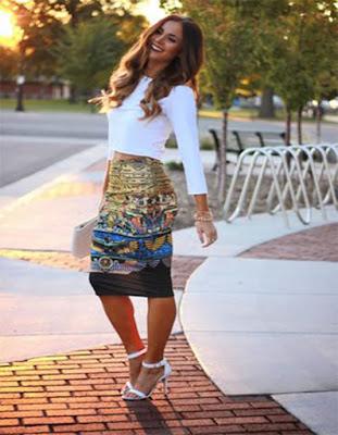 outfits con faldas blusas elegantes