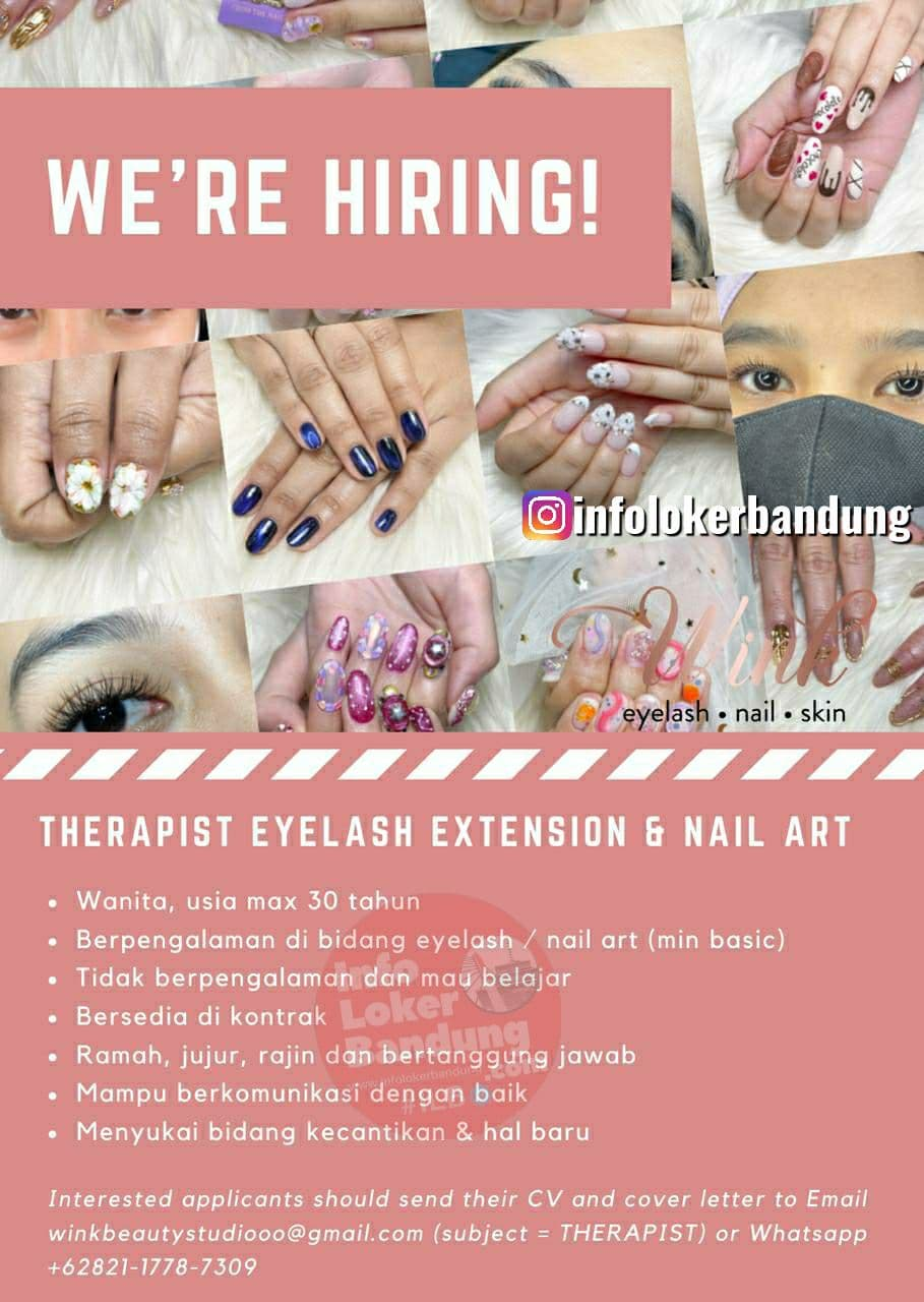 Lowongan Kerja Therapist Eyelash Extension & Nail Art Wink Beauty Studio Bandung Juli 2021