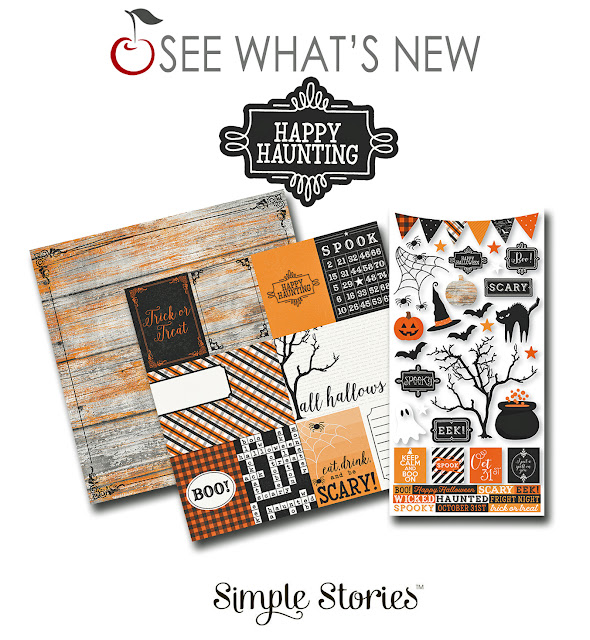 simple stories happy haunting paper crafting