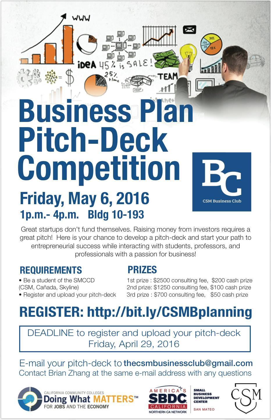 college of san mateo s business plan pitch deck competition