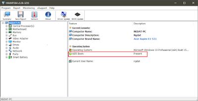 Hướng dẫn kiểm tra máy tính có hỗ trợ UEFI hay Legacy BIOS