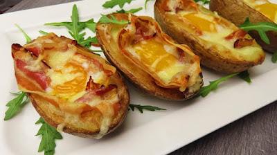 Punjeni Krumpir - Savršena Večera | Stuffed Potato Skins - Perfect Dinner