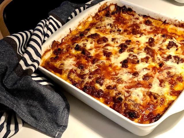 Kinaradise lasagne eller moussaka med aubergine