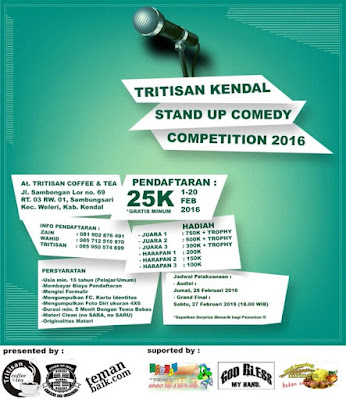 EVENT: 26-27 Februari 2016 | Stand Up Comedy Kendal | Stand Up Comedy Competition 2016