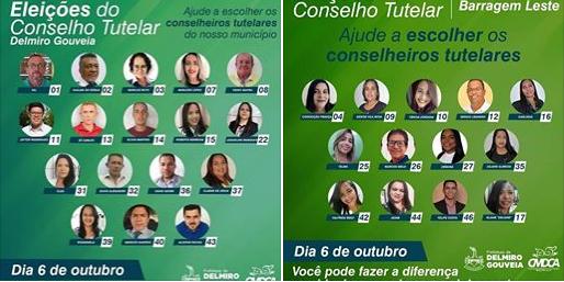 Em Delmiro Gouveia, eleição do Conselho Tutelar acontece neste domingo, 06, confira os candidatos da cidade e do Distrito de Barragem Leste