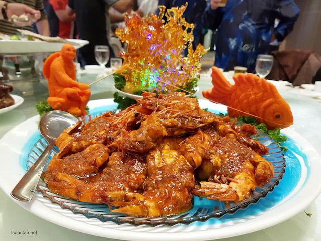 Peking Style Tiger Prawn 窝粑京烧老虎虾, LKK Sauce used: LKK Panda Oyster Sauce