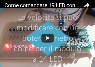 Come comandare 19 LED con Arduino UNO R3 mantenendo il controllo di velocità dello sketch