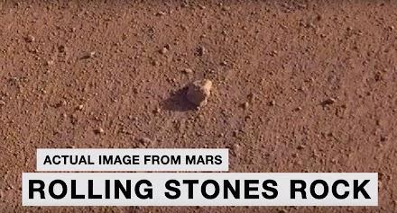 NASA JPL verleiht den Namen 'Rolling Stones Rock' auf dem Mars um eine der grössten Bands der Erde zu ehren