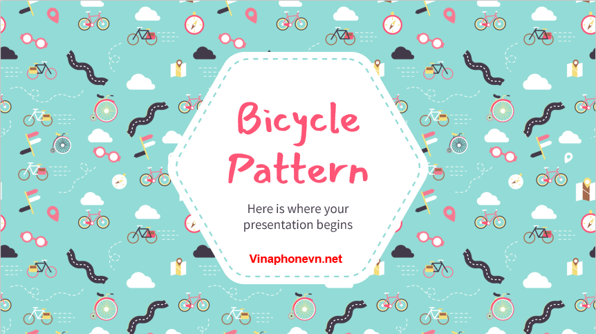 Bicycle Pattern Download Free PowerPoint Templates