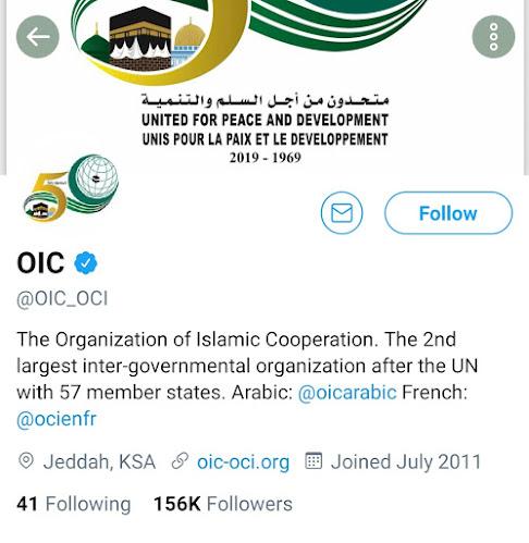 organisation of islamic cooperation twitter Account