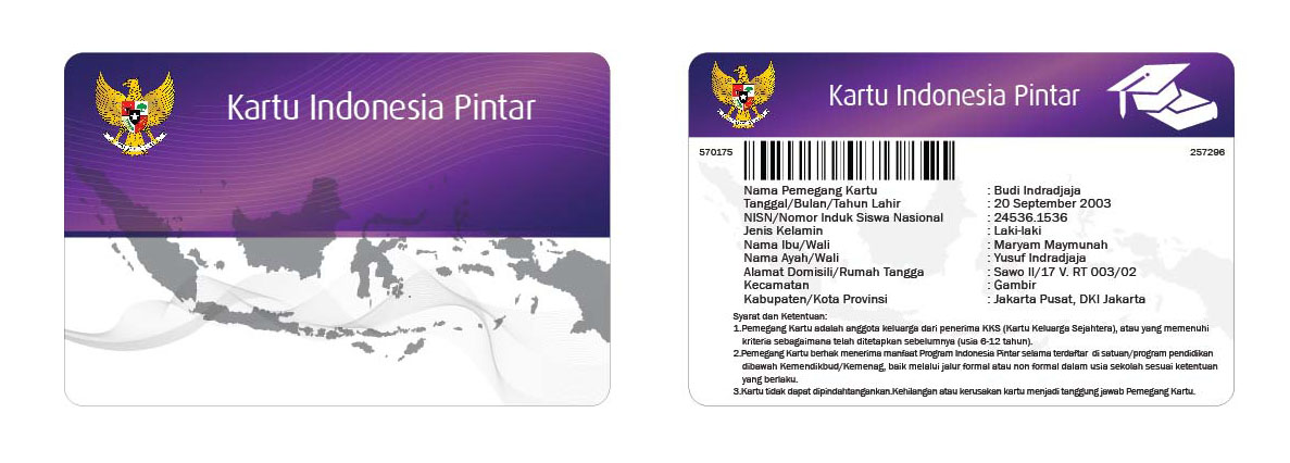 contoh KIP kartu indonesia pintar