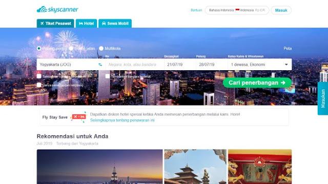 Aplikasi tiket pesawat online di Android