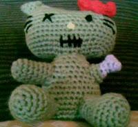 PATRON HELLO KITTY ZOMBI AMIGURUMI 2143