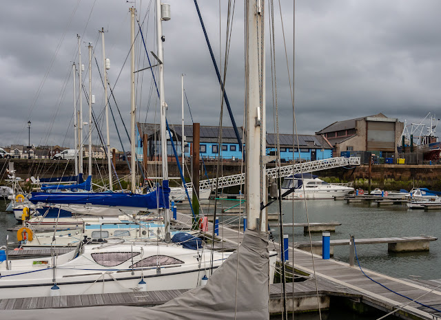 Photo of cloudy weather at Maryport Marina on Saturday